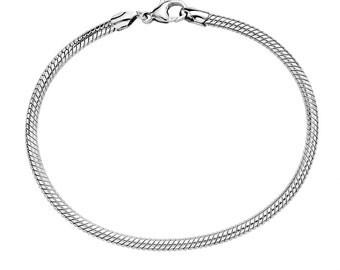 Sterling Silver Charm Bracelet - All Popular Charms Fits - Pandora, Chamilia, Trollbeads, etc!