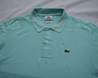 Vintage Lacoste Polo Shirt Green Alligator size 5 L