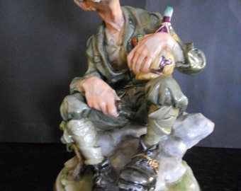 Rare Capodimonte Figurine by B. Redaelli. Alps Fell Walker.