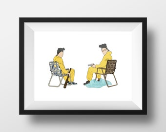 Breaking Bad Minimalist Poster Print