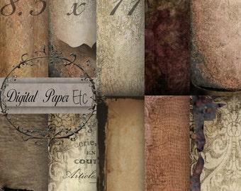 Digital Paper, Digital Grunge Textures, Printable Grunge Papers, Digital Scrapbooking, Digital Sheets, Digital Textures, P 108 SA