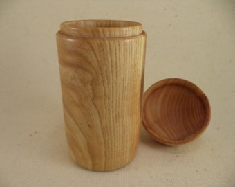 Wood Toothpick Container Hand Turned