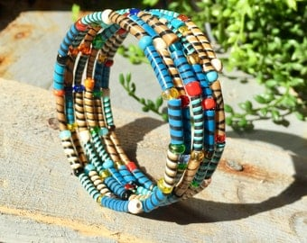 "Mini ""Rainbow zebra"" bracelet"