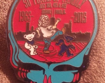 Fare The Well 50th 2inch Limited Edition Commemorative Hat Pin