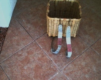 Antique Vintage Japanese Weaved Basket Backpack  Fruit Basket Farm Basket