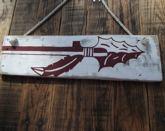 Hand-painted Florida State spear sign | Seminole spear sign | Rustic Florida State pallet sign | Florida State wall decor