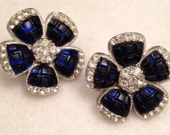Avon dark blue earrings