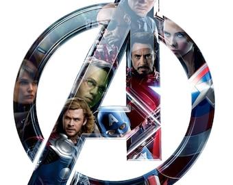 Avengers # 10  8 x 10 - T Shirt Iron On Transfer