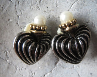 Clip earrings, vintage, heart clips, heart, heart shape, retro, Baroque, Rococo, ear clip, clip earrings for Castle Festival or party, Thater or costume party