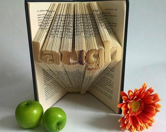Motivational Gift - Inspirational Message - Gifts for him - Gifts for her - folded book art - Book Sculpture