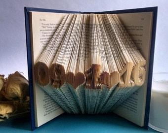 Wedding Gift - Save the Date - Book Art Sculpture - Wedding Decor