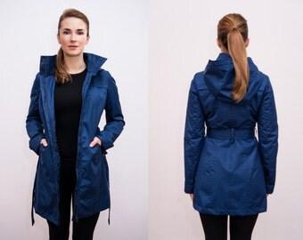 JUSTER jacket stylish raincoat for ladies Royal Blue