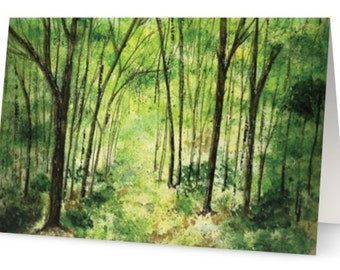 The Emerald Forest - Greetings Card