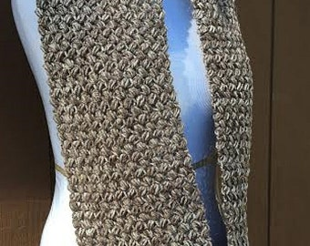 Brown Crochet Scarf, Taupe Scarf, Brown Infinity Scarf, Brown Scarf Crochet, Brown Knit Scarf, Brown Circle Scarf, Women's Scarf