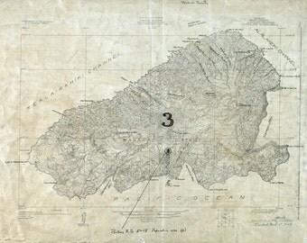 1926 Map of Kahoolawe Hawaii