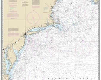 2015 Nautical Map Of Cape Sable To Cape Hatteras