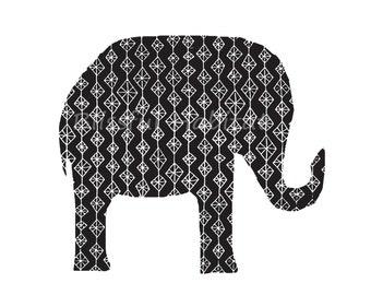 Black and White Elephant Design PDF Download
