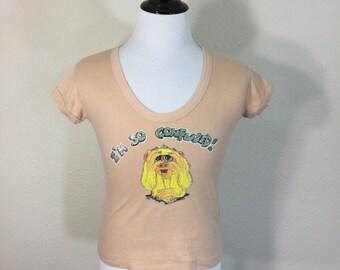 70's vintage scoop neck t-shirt 65/35 blend womens size large