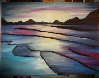 Mystical sunset: Original Oil Painting