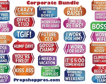 Corporate Photo Booth Props | Corporate Signs | Photo Booth Props | Prop Signs