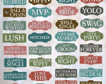 BEST SELLER Wedding Props | Wedding Signs | Photo Booth Props | Prop Signs | Classic Bundle