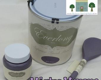 Everlong Chalk Paint Shabby Chic Furniture 1 Litre Misty Mauve NO Prep  NO WAX