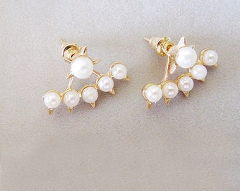 S A L E ••• NOVA Star Swing Earrings with Pearls