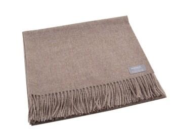 Maloca 100% Baby Alpaca Oversized scarf-Taupe