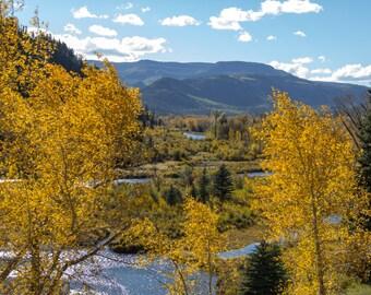 Landscape, Fine Art Photography, Photo, New Mexico, Chama, River, Fall, Autumn, Home Decor, Wall Art, Mountain