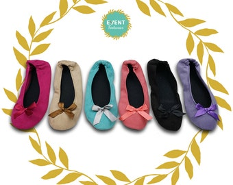 50 Customizable Chamois Flats, Wedding Flats, Foldable Flats, Bridal Flats in a Variety of Colors