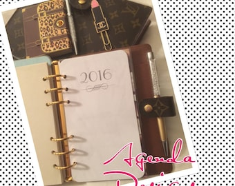 Marble look!! Week on 2 Pages Agenda Insert/Refills Pick You Ink Color