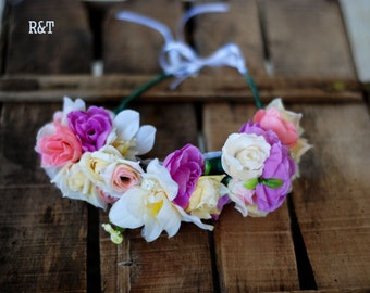 RTS .Wreath of flowers for head.Photo props. Flower Crown