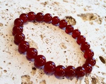 Jasper Bracelet,red jasper bracelet,mala bracelet,mala for man-woman,red jade bracelet,red gemstone bracelet,red onyx bracelet,yo