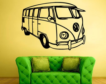 rvz1616 Wall Decal Vinyl Sticker Decals Car Auto Automobile Surf Bus