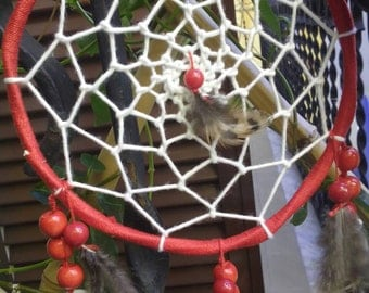 Handmade dream catchers with coral