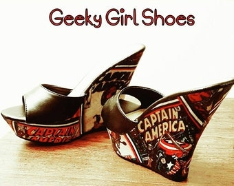 Superhero comic shoes