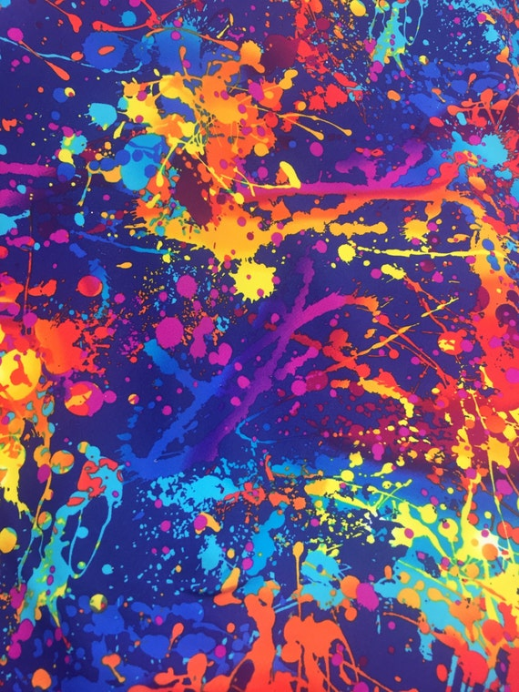 Splatter Paint 4 Way Strech Fabric 60 By The Yard By