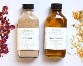 Cleansing Duo // Calendula Cleansing Oil & Cleansing Grains | Natural, Vegan Skincare