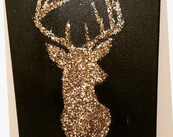 Glitter Deer Head