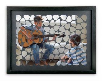 Custom guitar pick mosaic
