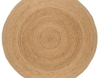 Hand Braided Large circular Jute Rug