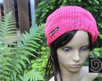 Open, Dreadmütze, Dreadwrap, dreadlocks Slouchy Rasta Hat pink