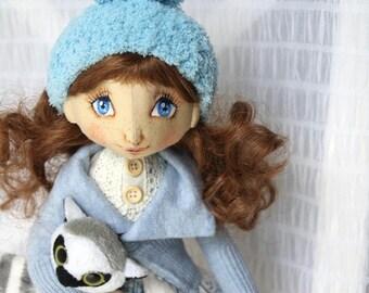 """art doll, handmade, handmade Doll """"Margaret"""", 40 cm/15 inch"""