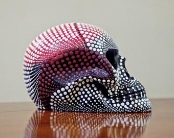 Ceramic Skull Decor, Sugar Skull Sculpture, Home Decor, Gothic Skull Decoration