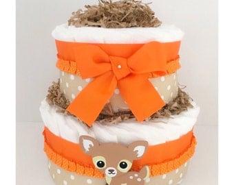 Diaper Cake - Diaper Cakes For Baby - Woodland Animal Diaper Cake - Diaper Cake Centerpieces - Woodland Animal Centerpieces