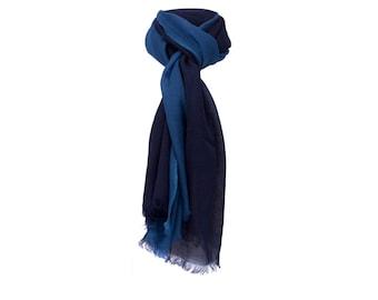 Blue woolen scarf
