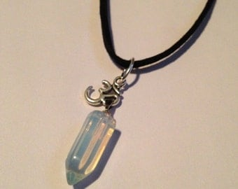 Opalite & Om Necklace
