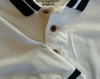 Cutter & Buck 100% Cotton Men's (Large) Golf Polo; Featuring Colonial CC.