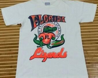 VTG Florida Lizards Civium Moribus Rei Publicae T- Shirt