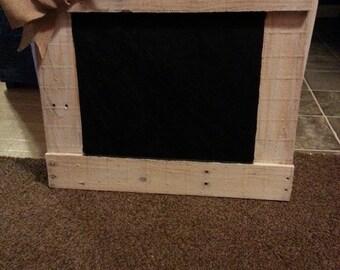 Rustic Pallet Chalkboard Frame